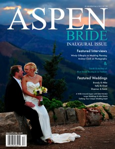 Aspen Bride Magazine Cover Photo