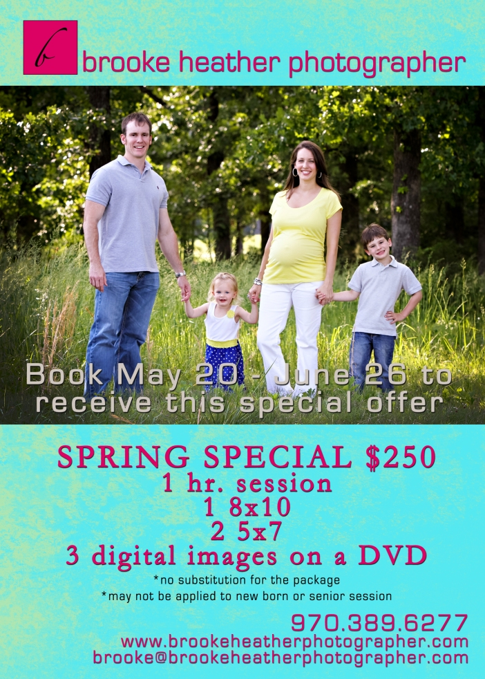 Spring Special for Brooke Heather Photographer
